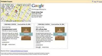 Cupones de descuento en google Maps