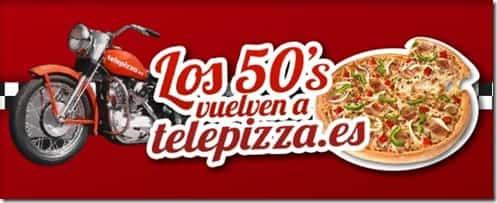 Telepizza pizzas a mitad de precio