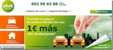 seguro de coche a sólo 1 euro