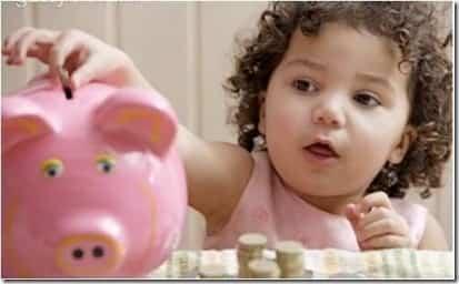 Como enseñar a ahorrar a los niños