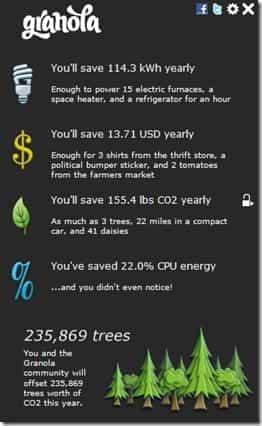 Ahorrar electricidad con granola