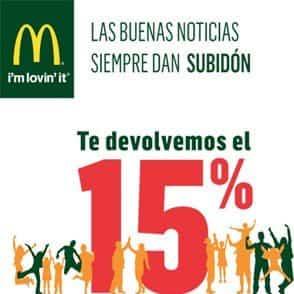 15 descuento MacDonalds