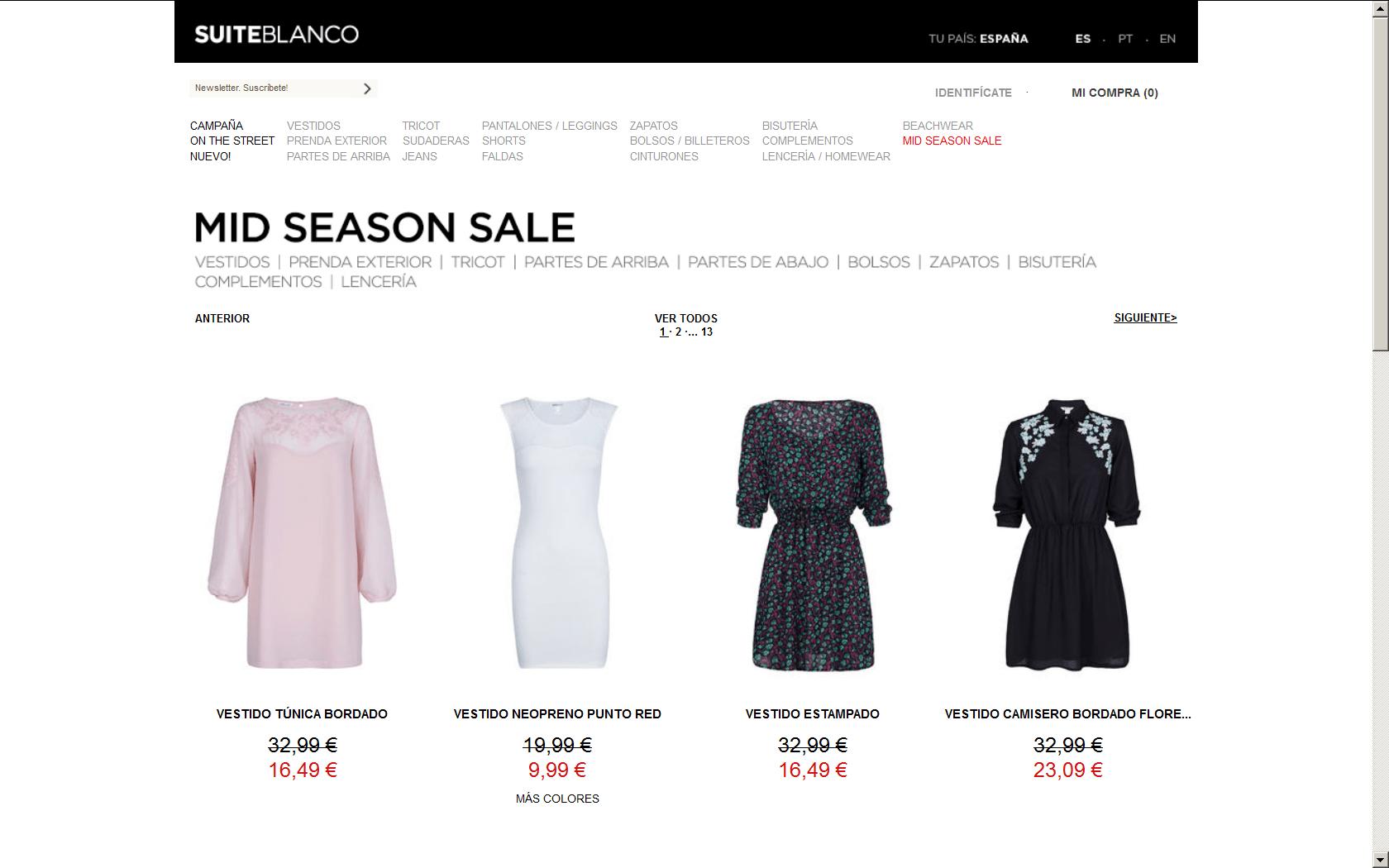 Mid Season Sale Blanco