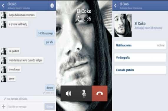 Facebook Messenger llamadas