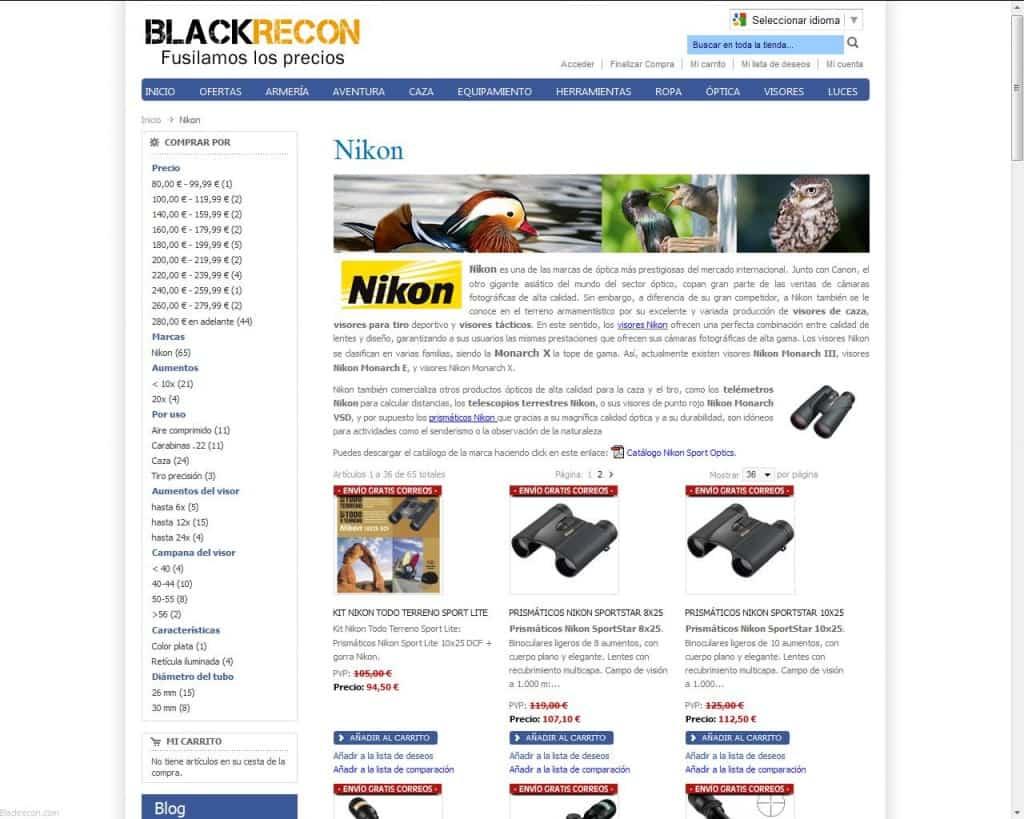 Descuentos en Nikon