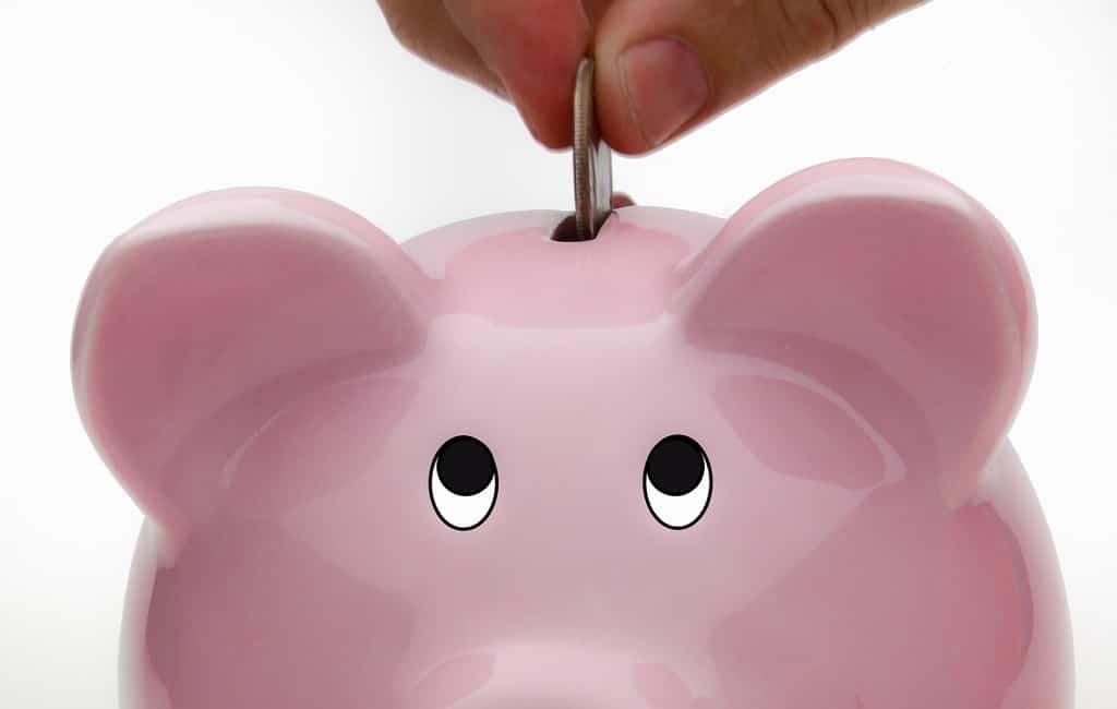 Deposit Into Piggy Bank Savings Account