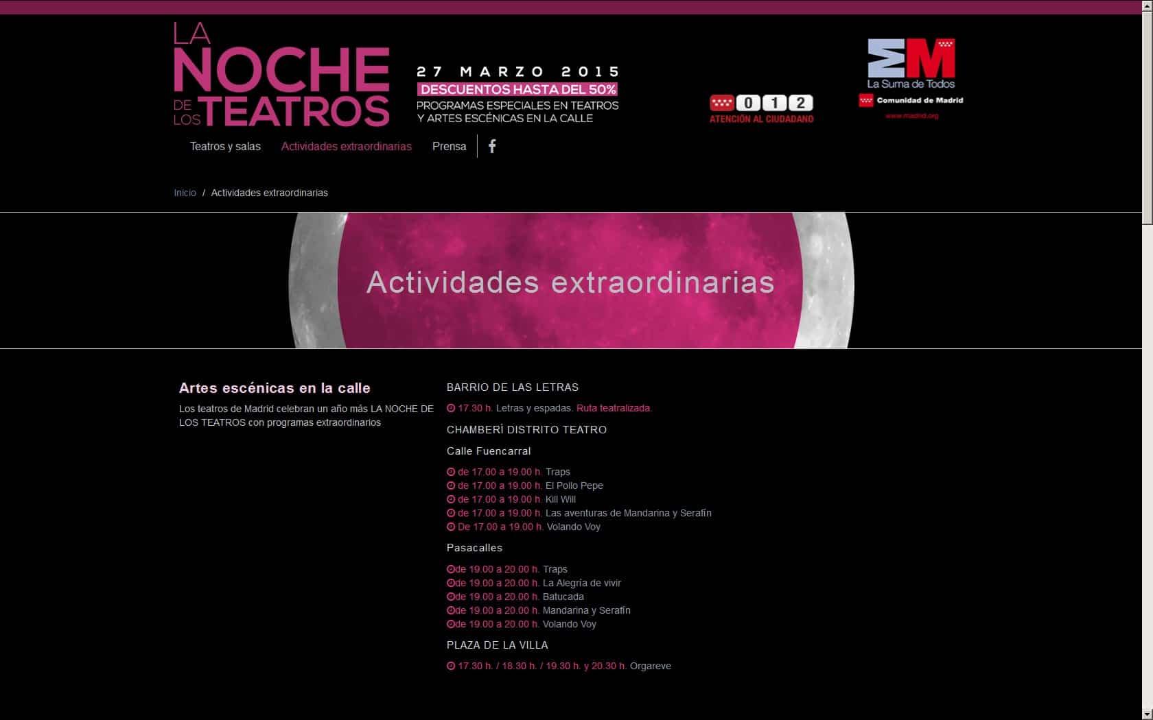 La Noche de los Teatros 3