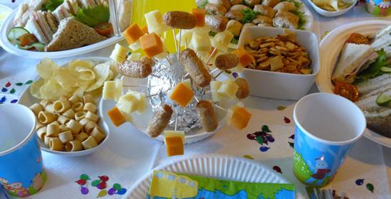 fiesta de cumpleaños comida infantil